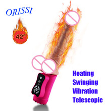 ORISSI Dildo Vibrator Automatic Smart Sensing Telescopic Vibrator Soft Silicone Heating Realistic Dildos Sex Toys for