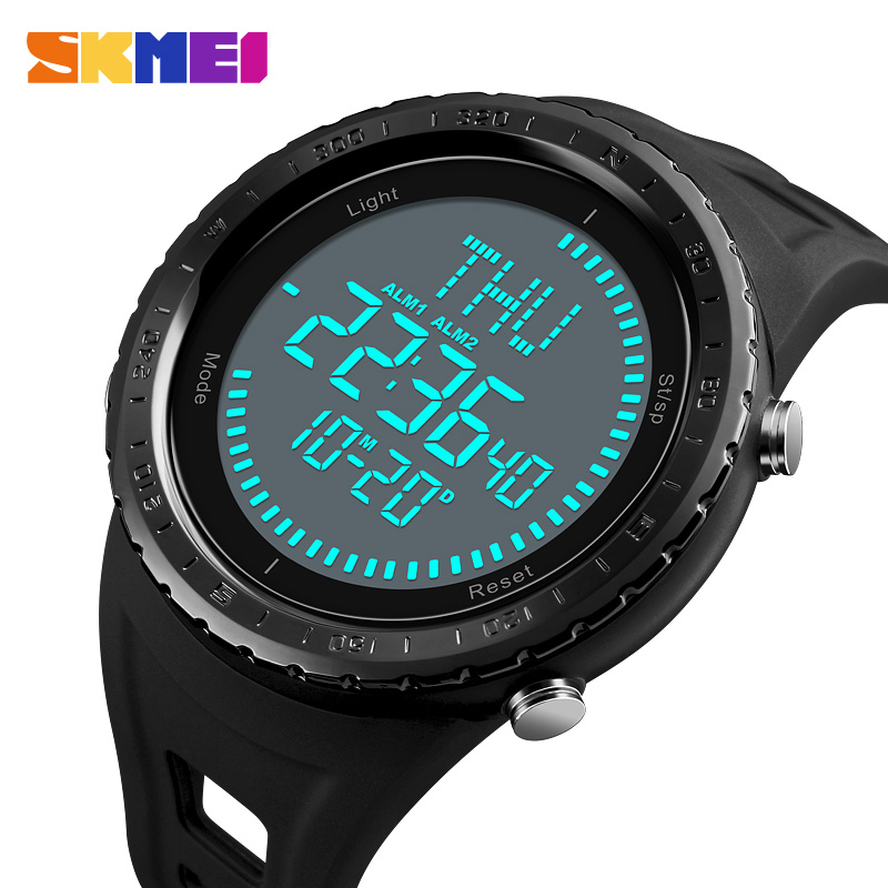 Constructive Skmei Watch Mens Digital Clock Men Outdoor 50m Waterproof Countdown Compass Chronograph Sport Watch Man Relogio Masculino High Quality And Low Overhead Men's Watches