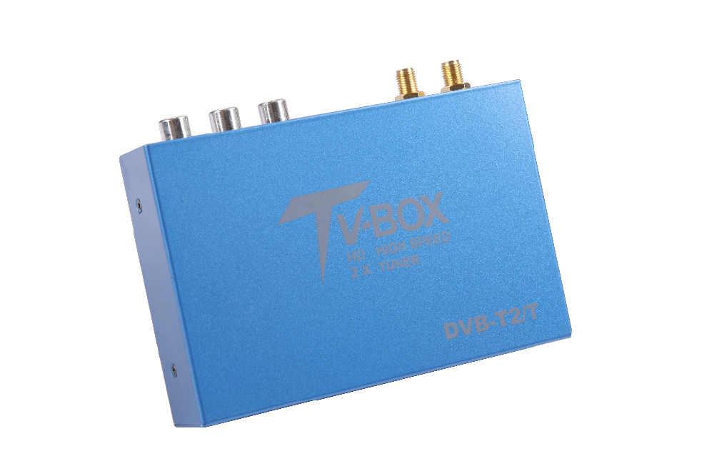 OZGQ 160 км/ч Двойные тюнеры H.265 DVB T2/T цифровой автомобильный телевизор Блок тюнера ТВ HD 1080 P двойной антенный приемник для автомобиля