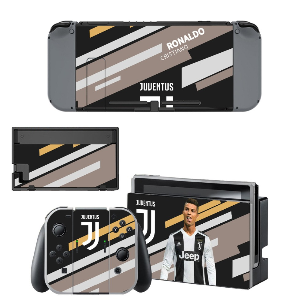 Nintend Switch Vinyl Skins Sticker For Nintendo Switch Console and Controller Skin Set - Juventus Cristiano Ronaldo 1