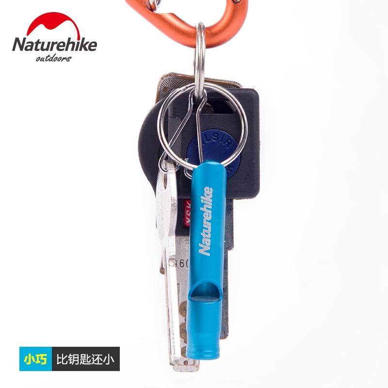 font b Naturehike b font Aluminum 6 5cm 8cm Outdoor Survival Whistle Train Whistle Camping