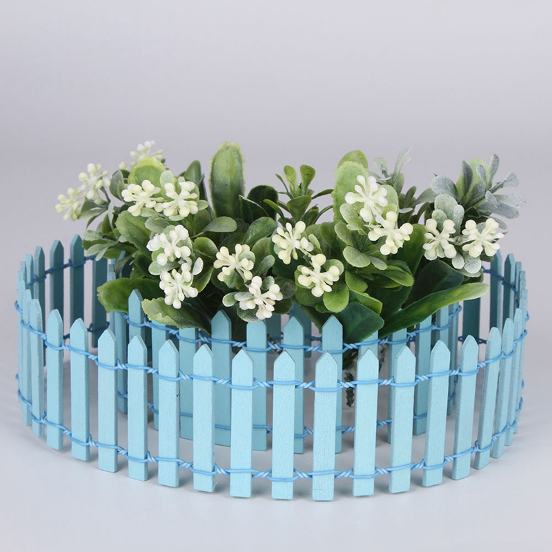 HOT 1PCS Wooden Fence Mini Signs Garden Plant Decor Ornament Landscape Miniatures