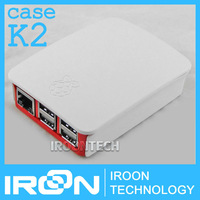 case K2: Original Official Case Box for Raspberry PI 3 model B Red-White ABS Plastic Case Box Cover Shell Enclosure Housing