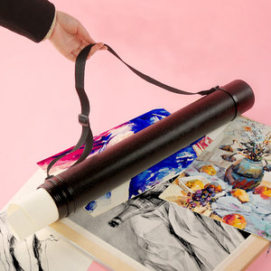 Image 2 - 6Colors Square Drawing Tube Adjustable Portable Drawing Large Capacity Strong Poster Tube For Artist Supplies