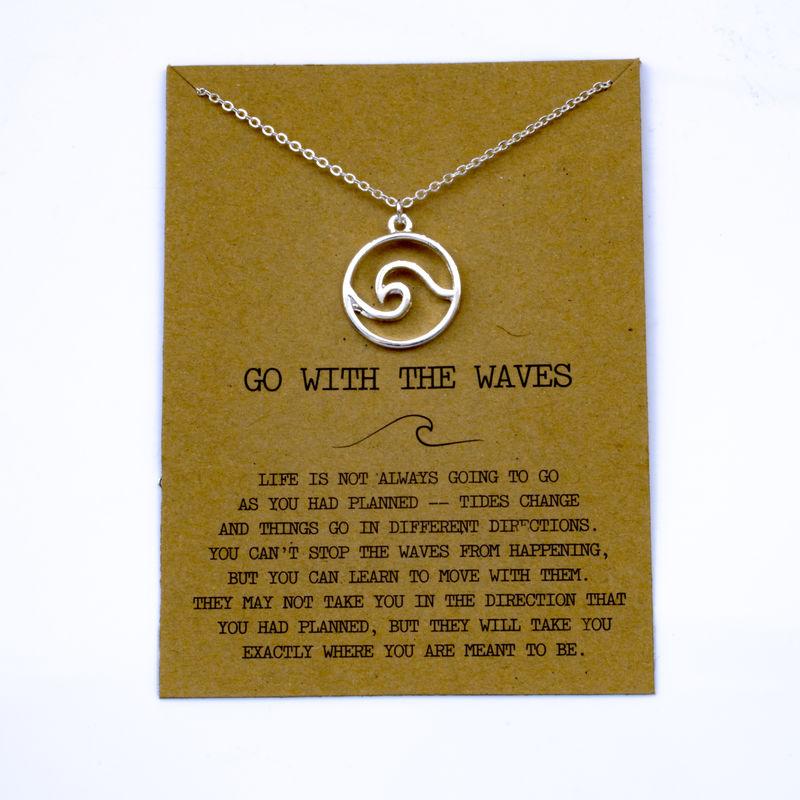 """SanLan 1 шт идут в комплекте ожерелье с подвеской """"волны"""" Океан ювелирные изделия - Окраска металла: 26"""