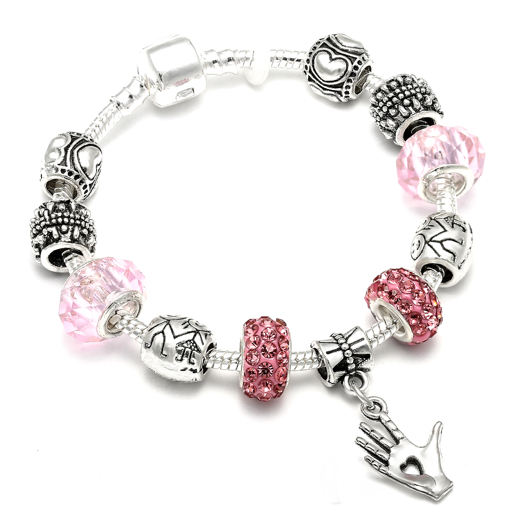 AAA Zircon Charm Bracelet for Women Fit Pandora Bracelet Jewelry DIY Making Accessories Gifts 5