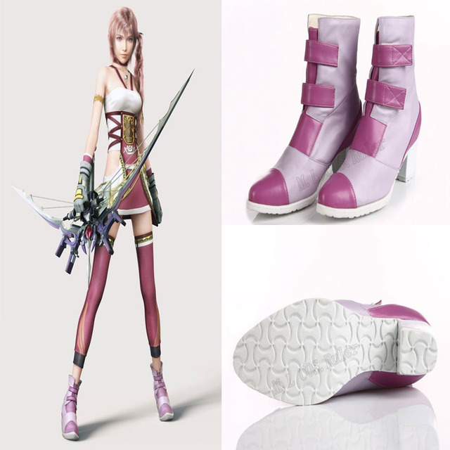 Exclusive made Final Fantasy XIII Serah Farron Shoes Cosplay Accessories