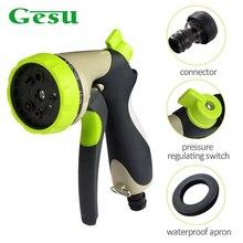 Gesu Garden Hose Nozzle Hand Sprayer 8 Patterns Car Wash Adjustable Watering Spray Gun Portable Multi functional pipe 42351MQz50