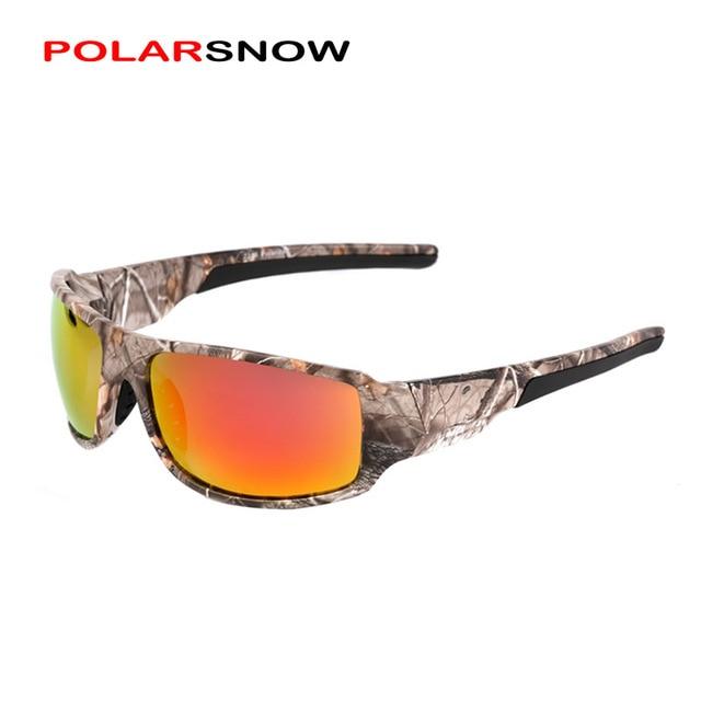 POLARSNOW 2016 Brand Polarized Sunglasses Camouflage Frame Outdoor Sport Sun Glasses Fishing Eyeglasses Oculos De Sol Masculino