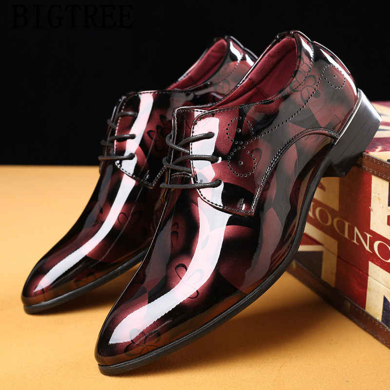 new arrival 2019 patent leather men wedding shoes italian fashion elegant  shoes men luxury brand coiffeur 3b7a47ed810a