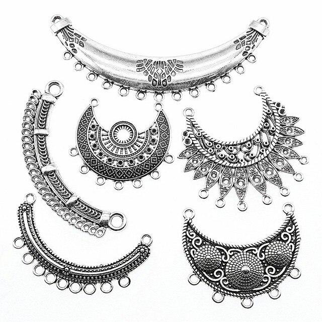 Antique Silver Color Necklace Connector Charms Pendant Jewelry Connector Necklace Jewelry Making 1
