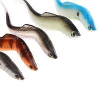 5 шт./лот 3D Средства ухода для век привести Рыболовные приманки Рыбалка Шад Рыбалка червь Swimbaits джиг-головки деформации алюминия мягкие прим...