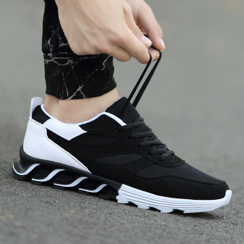 2018 men and women shock absorption wear sports shoes New mesh leather surface breath