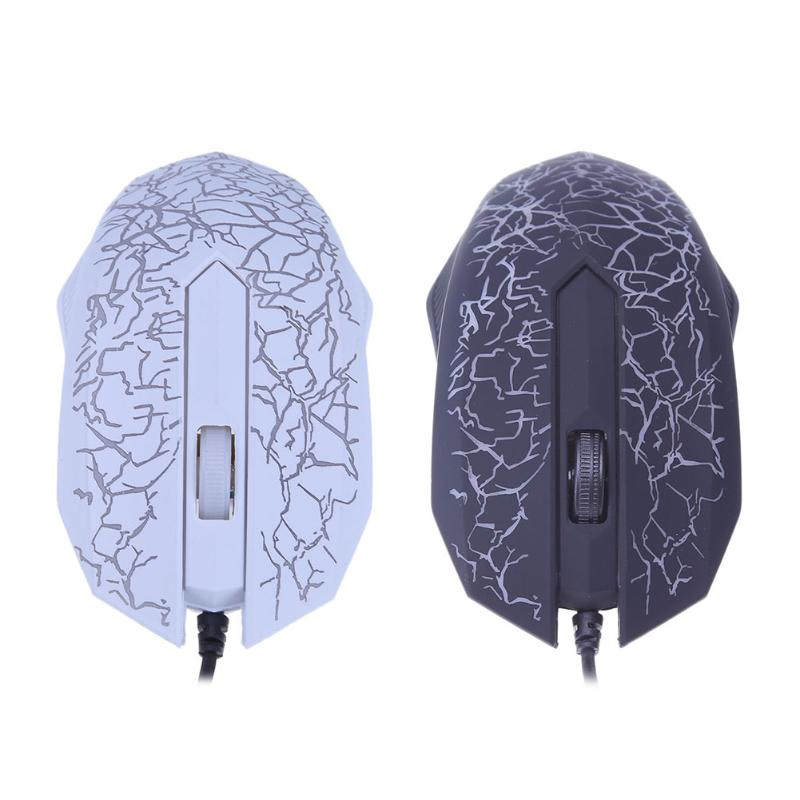 Wired USB Port 2400DPI 3 Keys Optical Colorful Backlight Home Office font b Gaming b font