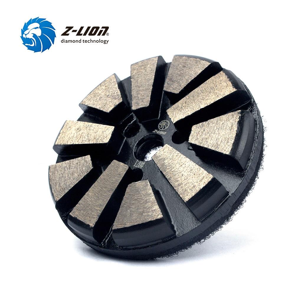 Z-LION 3 Diamond Concrete Grinding Pad 10 Segments Metal Bond Floor Sanding Polishing Disc Grit 60 120 Diamond Grinding Wheel