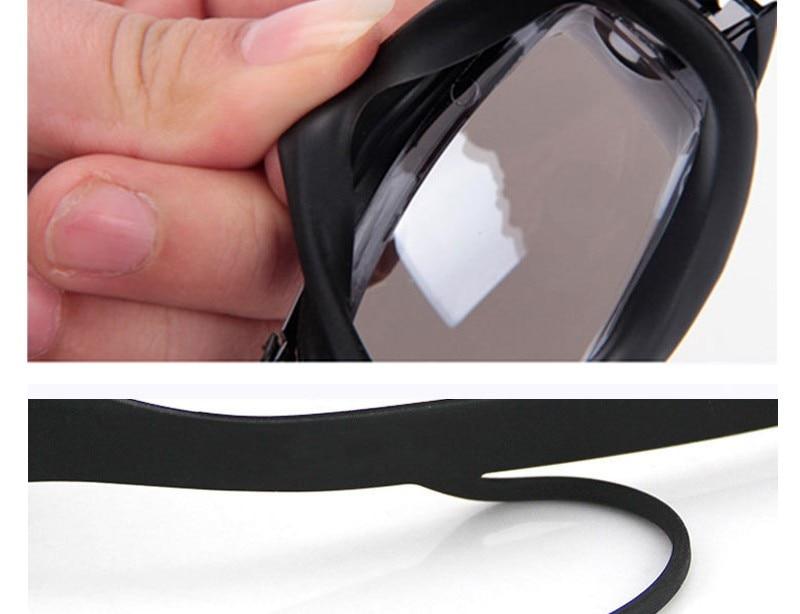 Silicone Professional Myopia Swimming Goggles With Earplug Anti Fog For Men And Women 7
