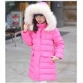 Дети 2016 зима новый детский пуховик большие девочки в Корейской версии девушки пуховик длинный толстый пальто