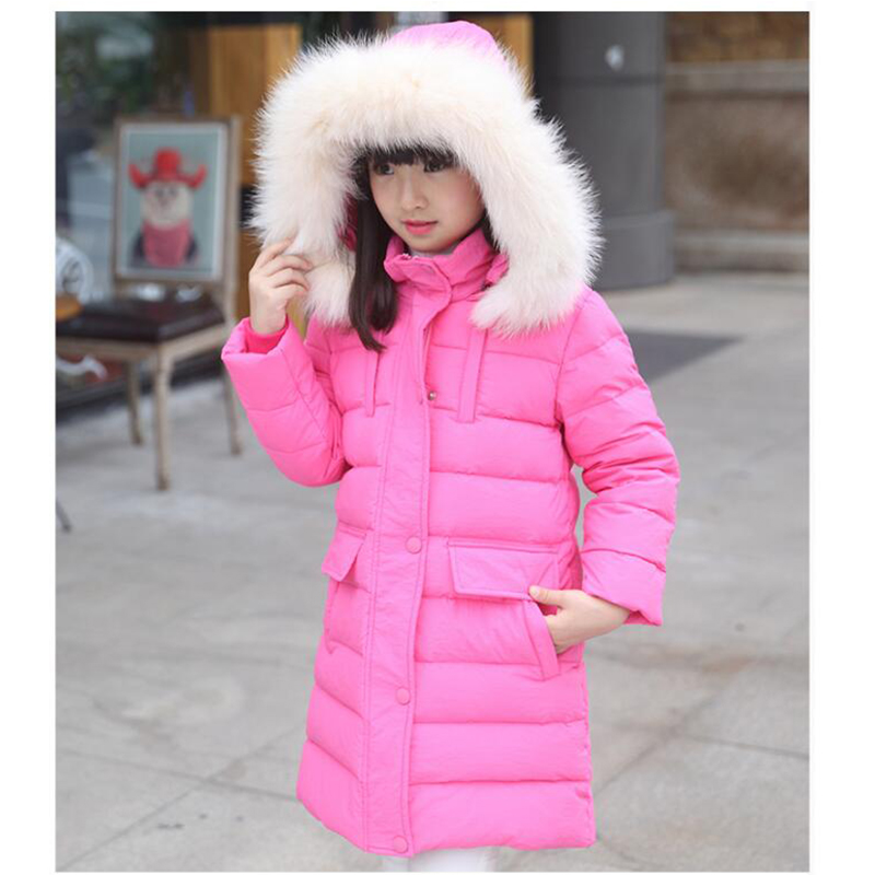 ФОТО Children 's 2016 winter new children' s down jacket big girls in the Korean version of the girls down jacket long thick coat