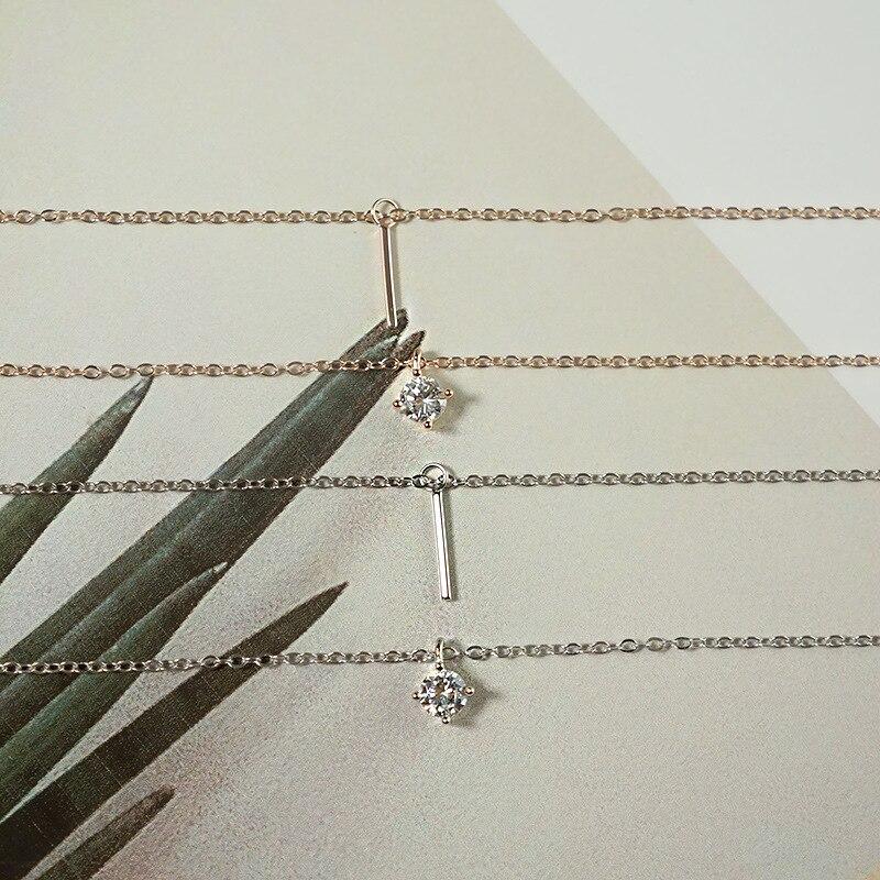 ZTUNG HBL2 классические цепочки колье кулон циркон одноцветное 925 пробы Серебряные ожерелья Для женщин Мужские ювелирные украшения