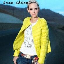 Snowshine #3522 1 ШТ. Женской Моды Случайные Зима Тонкий Пуховик Пальто Шинель куртка бесплатная доставка