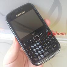 Отремонтированный разблокированный SAMSUNG S3350 мобильный телефон английская клавиатура и один год гарантии