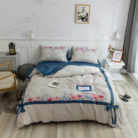 Cartoon Bedding Set Cute cat Flamingo Unicorn comforter king queen twin size Linens Duvet Covers Pillowcases cotton Bed Covers