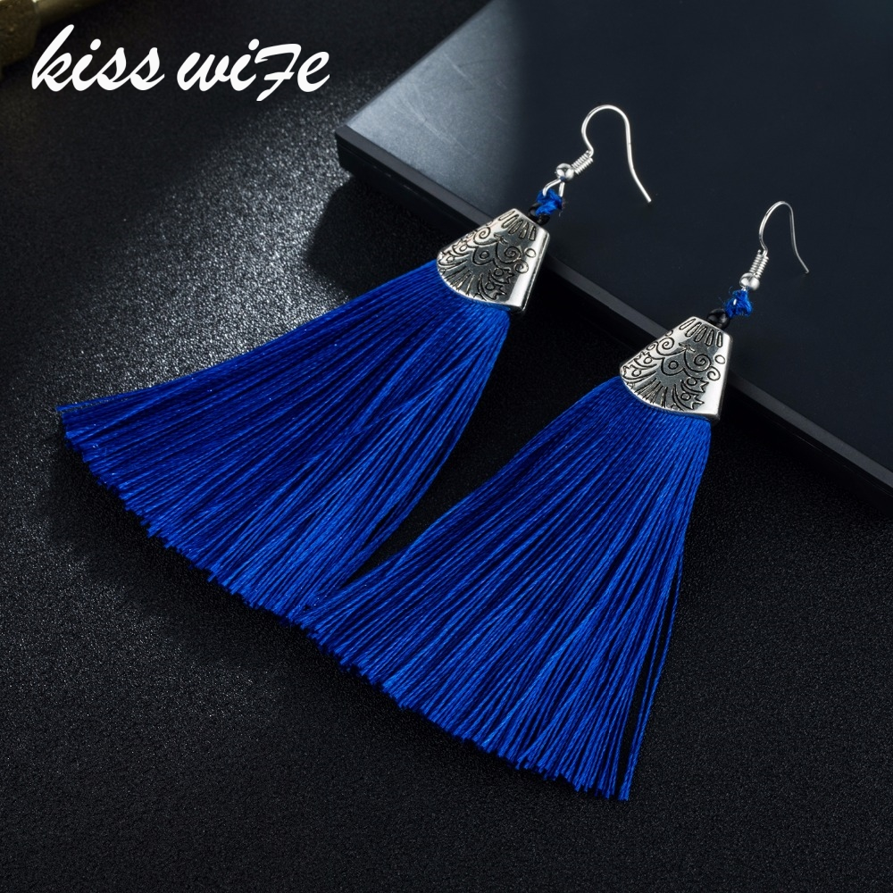 Tassel Earrings Boho Bohemian Long Exaggerated Earrings for Women Brush Earrings Fashion Jewelry Pendientes Bijoux