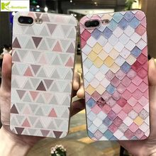 Summer 3D Phone Cases For iPhone 6 6S Plus Case Colorful Mermaid Scales Soft Silicone Back Cover For Apple iPhone 7 7 Plus Coqu
