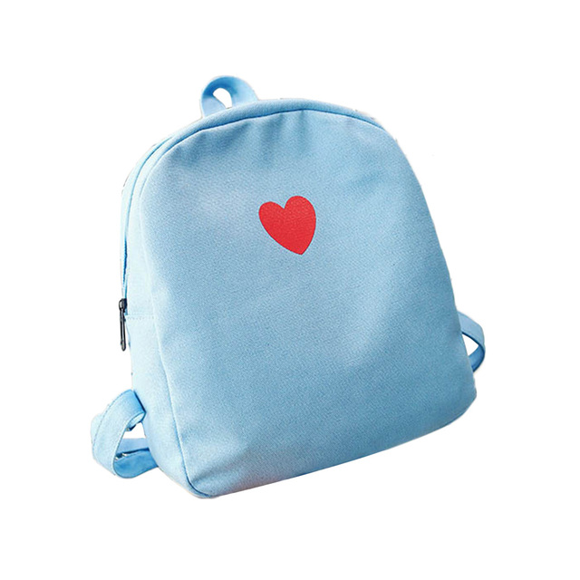 Cute Women Girl Mini Canvas Backpack Sweet Love Heart Rucksack for Teenager  Traveling School Bags 4 ColorsLT88-in Backpacks from Luggage   Bags on ... 2cdab91f56097
