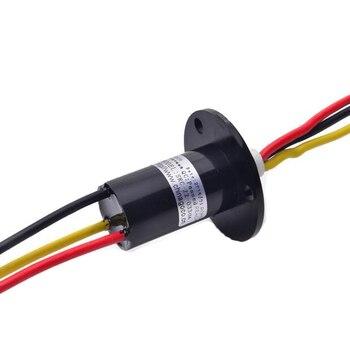 Gran Corriente 30A/2/3/4/5/6/canal de 22mm/31mm rotar conector anillos SRC-22-0X30A cápsula conductivo anillo colector