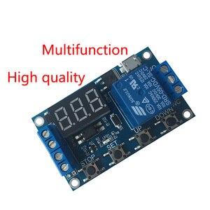 Релейный модуль 1 канала 5 В, релейный модуль задержки времени, триггер, выключенный/ВКЛ, цикл синхронизации 999 минут для релейной платы Arduino ...