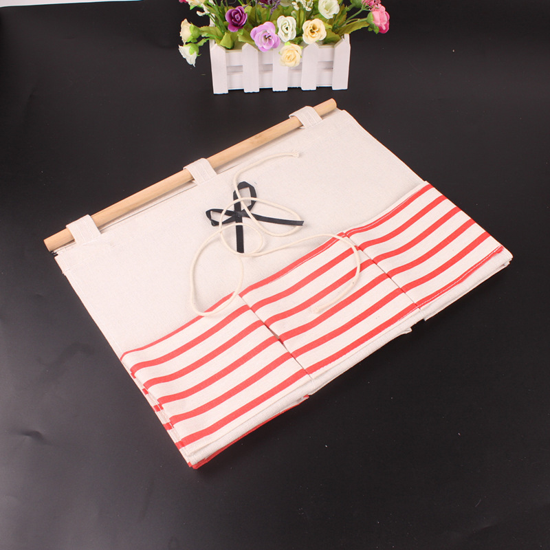Creative Hanging Storage Vintage Striped Door Wall Mounted Jewelry Closet Organizer Pouch Hanging Box for Sorting Mails Closet