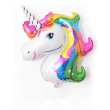 3pc 33*39cm Unicorn Birthday Party Decorations kids Foil Balloons New Latex Balloon Supplies Wedding Baby Shower