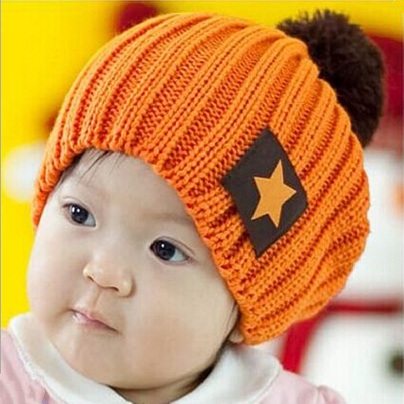 2016 Winter Hat Fashion Lovely Boy And Girl Hats 4 Colors Winter Baby Knitted Caps Children Warm 1-5 Years Old Free Shipping воблеры zip baits rigge 70 a киев купить