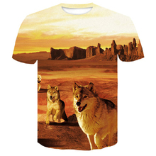 Newest men t shirt 3D print wolf casual t-shirt brand  fashion funny shirts clothing hip hop Short Sleeve tops tees