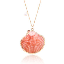 купить 2019 new trendy coral scallop pearl woman necklace top sale ocean series plated pearl necklace for women в интернет-магазине