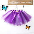 2T kids girl coloful glitter dance tutu skirt sequin with 3 layers tulle tutu toddler girl chiffon pettiskrit ball gown skirt