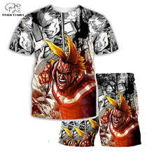 PLstar Cosmos Summer T Shirts Anime Printed My Hero Academia 3D T-Shirt and shorts Mens for boy Suit plus size XS-7XL MHA-3 plstar cosmos brand boku no hero my hero academia 3d print hoodie sweatshirt tee tops plus size xs 7xl