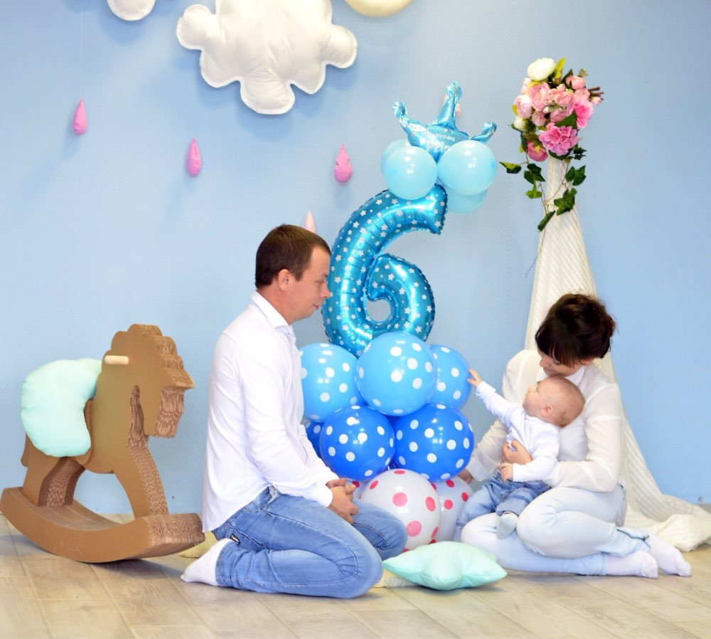 FENGRISE Pink Crown Digit 0 9 Number Ballon Happy Birthday Balloons Baloon 1st Birthday Party Decorations Kids Babyshower Favors in Ballons Accessories from Home Garden