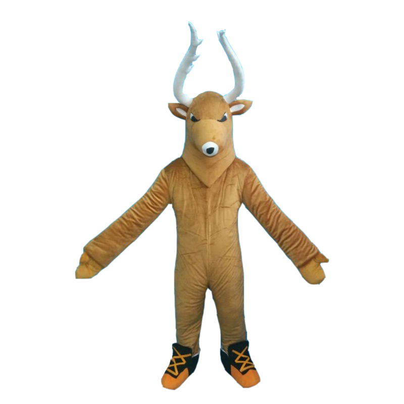 Deer Custom Mascot Costume Adult Cartoon Animal Cosplay Costume With Fan Inside Head For Commercial Advertising promotion
