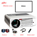 100% poner saund projetor 3600 lumens home theater tv led projetor suporte Full Hd 1080 p Media player de Vídeo Hdmi LCD Projetor 3D