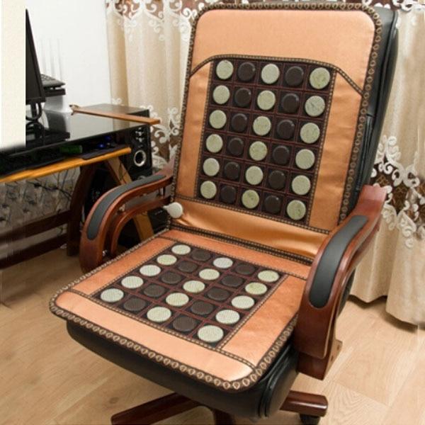 2016 offre spéciale Jade coussin Germanium coussin de siège chauffant Jade agréable coussin de fond bureau de soins de santé utiliser Jade housse de chaise