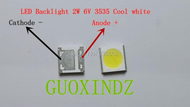 WOOREE  LED Backlight   2W  6V  3535  150LM   Cool white   WM35E2F-YR09B-eA   LCD Backlight for TV   TV Application
