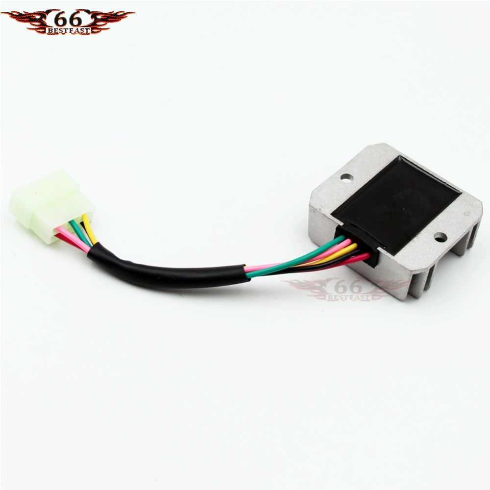 voltage regulator 5 wire for honda cg 125cc 150cc 200cc 250cc atv dirt bike go kart  [ 1000 x 1000 Pixel ]