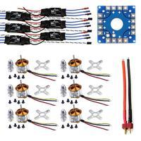 F04997 A JMT Assembled Kit: 30A ESC + Motor + KK ESC Connection Board Connectors Dean T Plug Wire for 6 Aix Drone Hexacopter