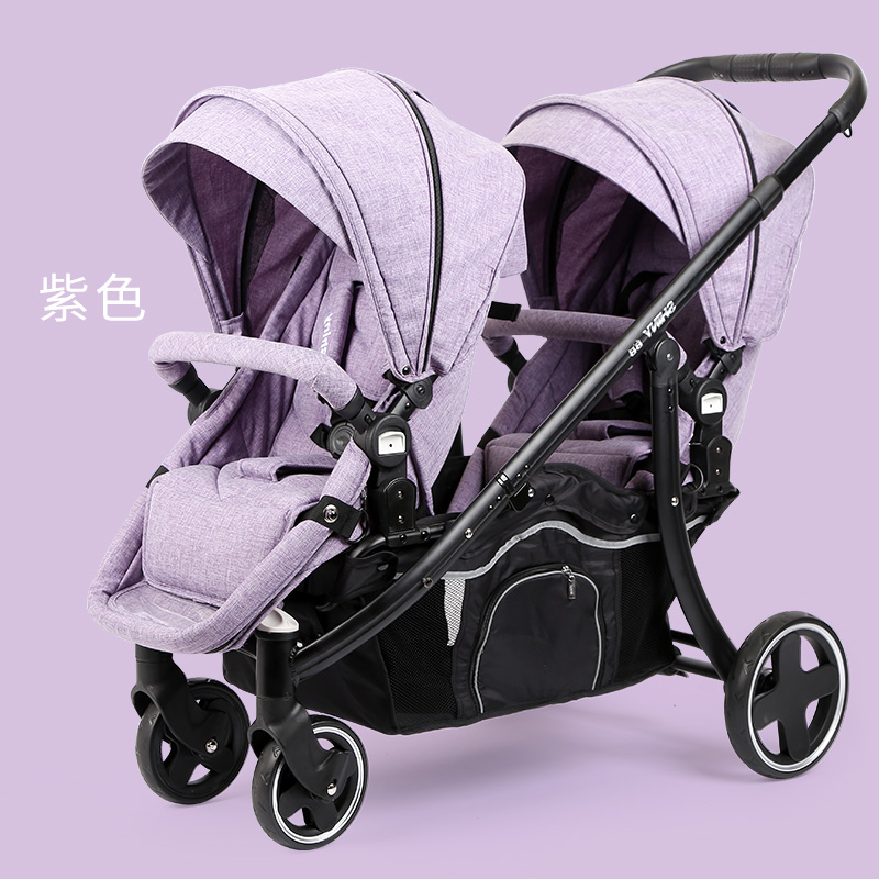 Multi Function Twin Baby Strollers Lightweight Folding Can Sit Reclining Detachable Second Summer Children Double Stroller