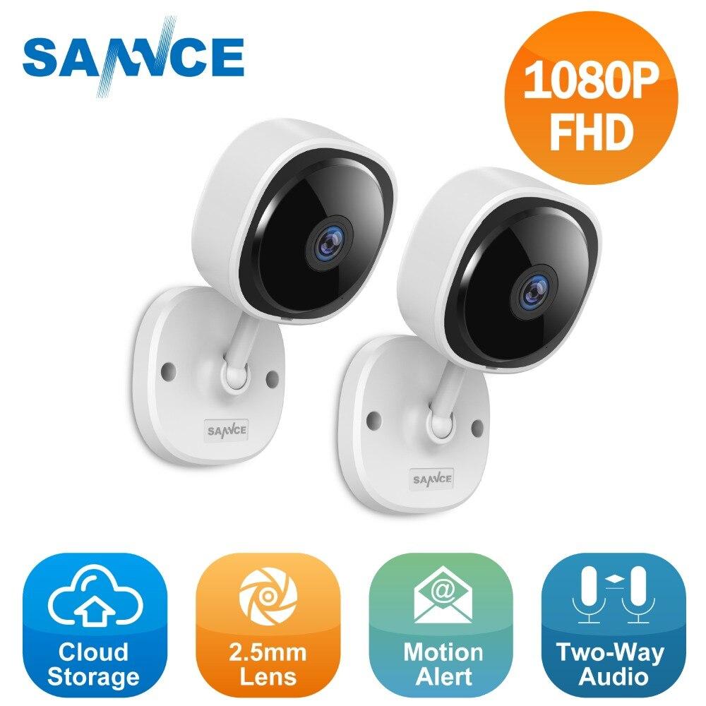 SANNCE 2pcs HD 1080P IP Camera Wireless Wifi Mini Network Camara Night Vision IR Cut Home