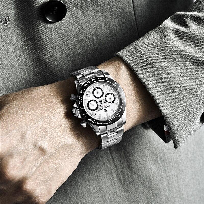 PAGANI DESIGN 2019 nouveau hommes montres Sport Quartz montre hommes en acier étanche horloge mâle mode chronographe Relogio Masculino - 6
