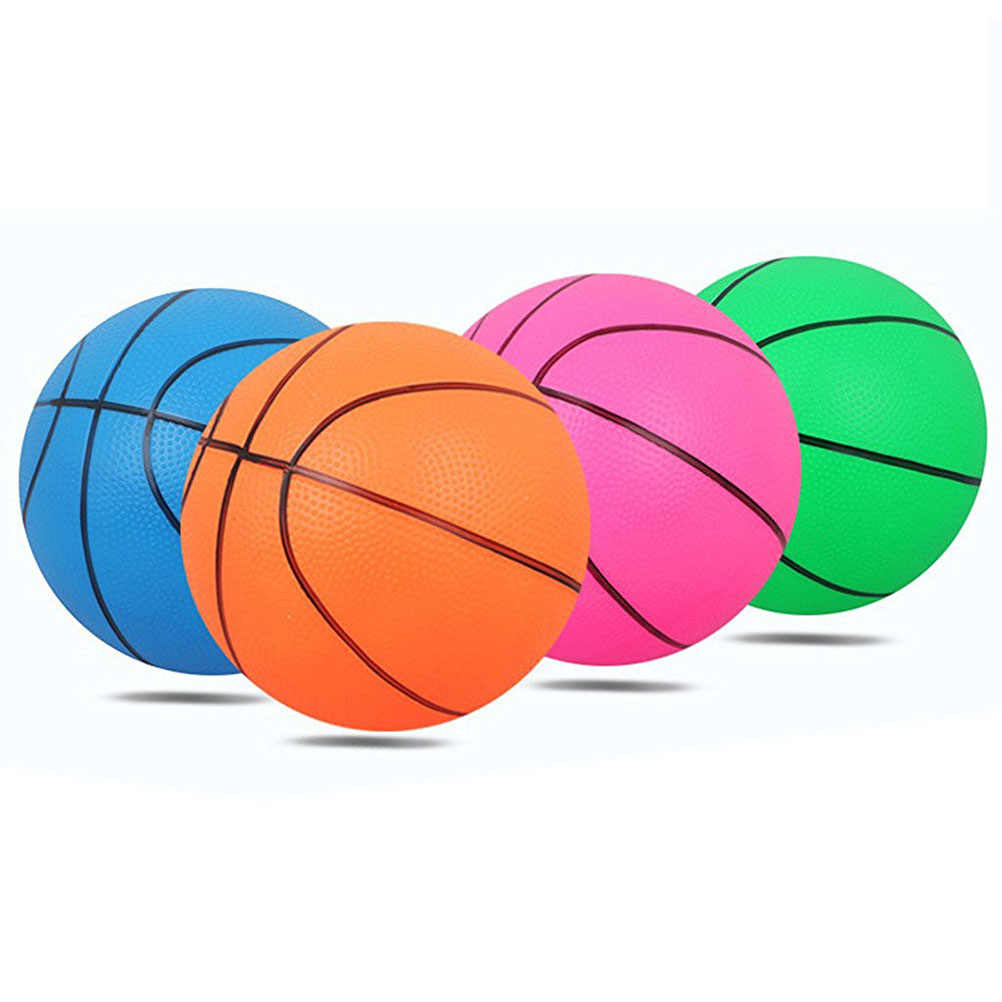 Mini Bouncy Basketball Indoor/Outdoor Sports Ball For Kids Exercise Stress Relief Toys Basketball Kids Toy Gift (Random Color)