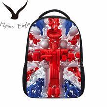11f3addc1 Hynes Águia Impressão Bandeira Americana Mochilas Estilo Britânico REINO  UNIDO Bandeira Mochilas Casuais Saco Saco Da
